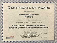 Recco Filters - Cost Cutting Award