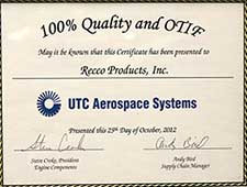 Recco Filters - 100% Quality and OTIF Award
